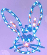 Easter Lighted Window Decorations