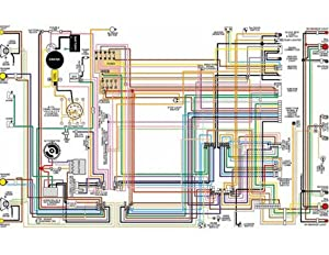 Amazon: 1969 1970 Opel GT Color Wiring Diagram: Automotive