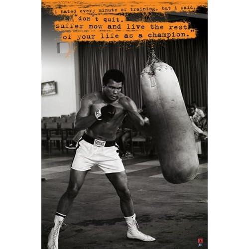 Amazoncom Muhammad Ali Don39t Quit Quote Boxing