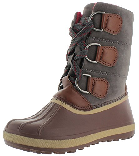 Moda Essentials Women's Cold Weather Duck Snow Boots Brown Size 7.5