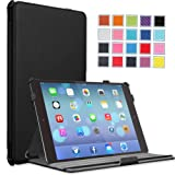 MoKo Apple iPad Air Case - Slim-Fit Case with Stand for iPad 5 Air (5th Gen) Tablet, BLACK (With Smart Cover Auto Wake / Sleep)