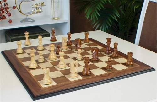 Cheap More Sale The Chess Store Yugoslavia Staunton Wood Chess Set Golden Rosewood Boxwood Chess Pieces With Walnut Molded Chess Board 3 875 King Promo In Buy