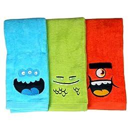 Product Image Fingertip Towels 3-pk. - Monsters