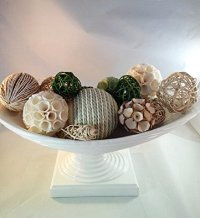 Decorative Spheres Spring Green Rattan Vase Filler Bowl ...