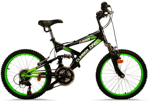 mountainbike 20 zoll climber vollgefedert 18 gang. Black Bedroom Furniture Sets. Home Design Ideas