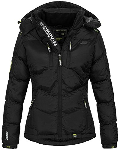 Geographical Norway Damen Steppjacke Cleopatre abnehmbare Kapuze