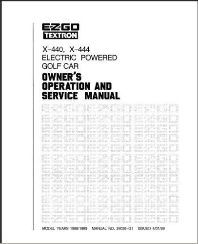 redkendallsell: OrderNow E-Z-GO 24039G1 1988-1989 Owners