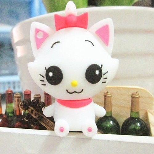 Trust&buy Cute Cartoon White Cat USB Flash Memory Drive Data Traveler Novelty Gift - 16GB