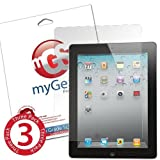 myGear Products iPad 4, 3, 2 Lifeguard Clear Screen Protectors ***LIFETIME WARRANTY** 3 Pack Retail Packaging