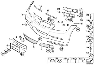 BMW Genuine Flap Towing Eye Tow Hook Cover Primed E90 E91