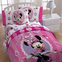 4pc Disney Minnie Mouse Twin Bedding Set Sweet Treats ...