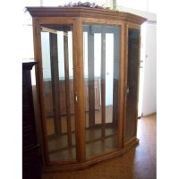 Amazon.com - Thomasville 3 Bay Solid Oak Curio Cabinet