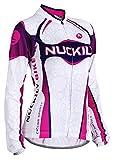Nuckily Women's Cycling Long Sleeve Jersey Bike Bicycle Jersey Full Zip Sportswear