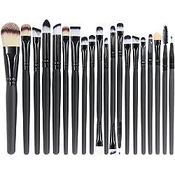 EmaxDesign 20 Stück Make-up Pinsel zum professionellen Auftragen von Lidschatten Eyeliner Foundation Rouge Lippenkosmetik Bürsten für Puder und Flüssiger Cremiger Kosmetik,sowie Pinsel zum Verblenden