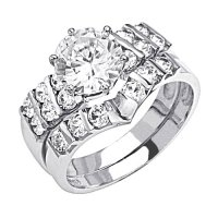 White Gold Wedding Set Dealv