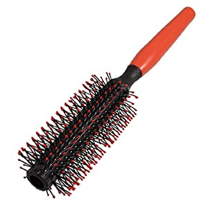 red plastic handle curly hair styling round bristles brush b womens styling