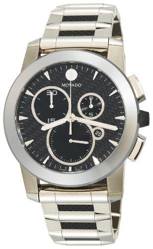 Movado Men's 606083 Vizio Steel and Carbon Fiber Bracelet Anthracite Dial Watch
