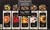 Tea Forte NOIR Single Steeps Organic Loose Leaf Tea Sampler, 15 Single Serve Pouches - Bold Black Tea Varieties