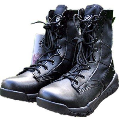 BE DREAMER Men's Lightweight Military Combat Boots,Black ,US 12