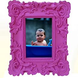 "Product Image Baroque Frame - Pink (4x6"")"