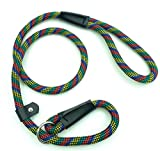 Pet Cuisine Dog Leash Training Slip Lead Puppy Nylon Rope Adjustable Loop Collar Multi-colored Red