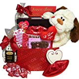 A Big Kiss For You! Plush Puppy Care Package Gift Box - Valentine's Day