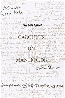 Mathematics Library: Calculus On Manifolds: A Modern