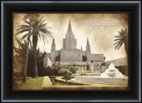Amazon.com: LDS (Mormon) 15 x 20 Framed Vintage Oakland ...