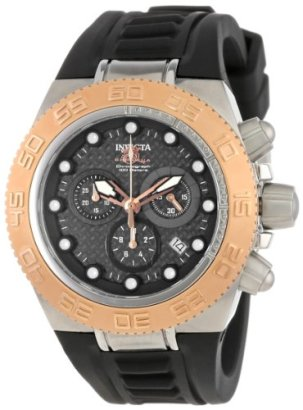 Invicta-Womens-10860-Subaqua-Sport-Chronograph-Black-Carbon-Fiber-Dial-Black-Silicone-Watch