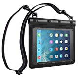 Ultraproof Waterproof Case for iPad Mini / iPad Mini Retina - [Black] Universal UltraBag Waterproof Pouch with Touch Responsive Front and Back Transparent Screen Protector Windows [One Year Warranty] Fits Any Version of Apple iPad Mini / iPad Mini with Retina Display (A.K.A IPX8 Certified Premium Protective Smartphone Life Waterproof Pouch / Credit Card Waterproof Bag Case Cover)