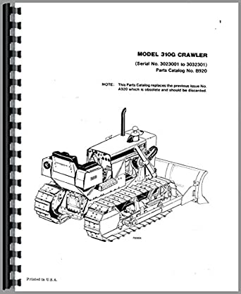 Case 310G Crawler Parts Manual: Amazon.com: Industrial