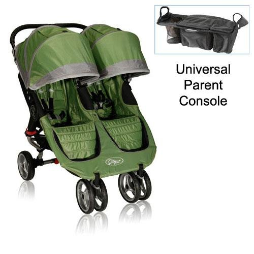 baby jogger 12240 city mini double stroller in green gray with parent console peter d ebyee