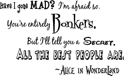 Alice in Wonderland Quotes and Wall Decals