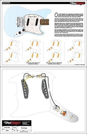 ToneShaper Guitar Wiring Kit, For Fender Mustang (Black