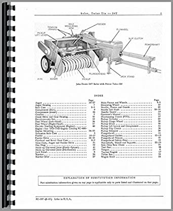 John Deere 24T Baler Parts Manual: Amazon.com: Industrial
