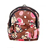OCSOSO Puppy Dog Backpack,Saddle Bags,Back Pack with Training Lead Leash (Coffee monkey, S)