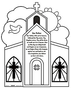 Amazon.com: Youth Kids Color Your Own Our Father Prayer