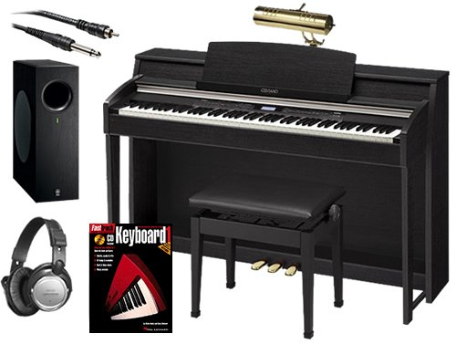 Casio AP-620 Digital Piano BUNDLE+ w/ Subwoofer, Bench & Brass Lamp