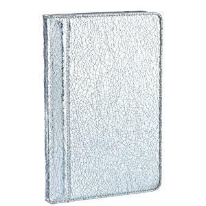 "M-Edge GO! Kindle Jacket, Crackled Silver (Fits 6"" Display, Latest Generation Kindle)"