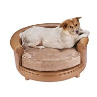 Chesterfield Real Faux Leather Large Dog Bed Designer Pet ...