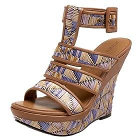 Jessica Bennett Women's Kiros Ankle Strap Platform Wedge