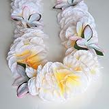 Premium Hawaiian Lei - Paradise Petunia w/ Orchids in White