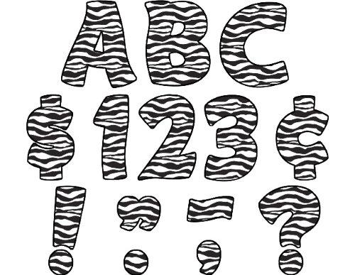 Teacher Created Resources Zebra Print Funtastic Font 4