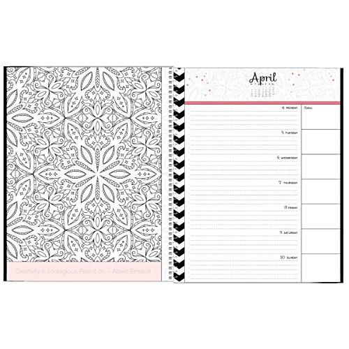 2016 Adult Coloring Book Calendar Designer Organizers