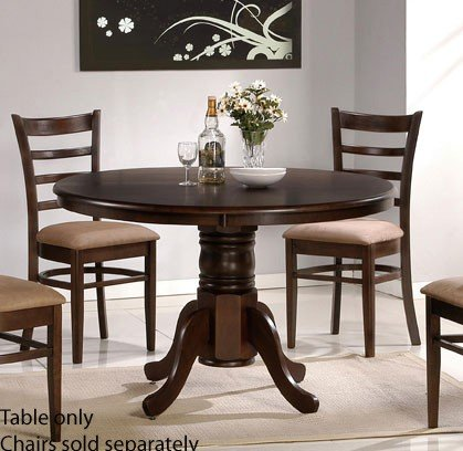 Dining Table with Solid Wood Top - Espresso Finish