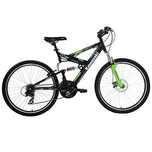 Kawasaki DX Full Suspension Men's Mountain Bike, 26 inch Wheels