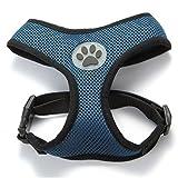 BINGPET BB5001 Soft Mesh Dog Puppy Pet Harness Adjustable - Navy Blue
