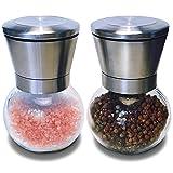 Mint Kitchen Premium & Stylish Stainless Steel Salt & Pepper Ceramic Grinder Mill Set