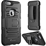 iPhone 6 Plus Case ,i-Blason Prime [Kickstand] Apple iPhone 6 Plus (5.5) 2014 New Release [Heavy Duty] [Dual Layer] Combo Holster Cover case with [Locking Belt Swivel Clip] (Black)