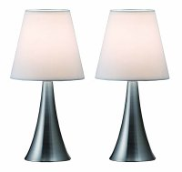 Modern Night Stand Table Lamps Set 2 Touch Sensor Bedroom ...